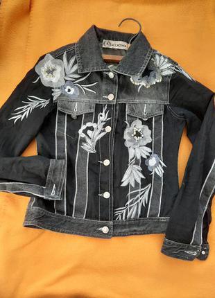 Пиджак джинсовий вишивка