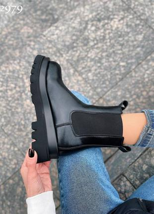 Челси ботинки тренд натуральная кожа