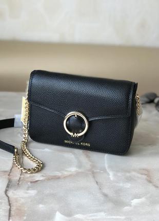 Сумка женская кросс-боди michael kors оригинал wanda small pebbled leather crossbody bag чёрная кросс боди