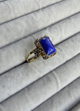 Кольцо перстень винтаж цвет золото япония эмаль