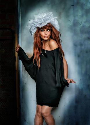 Шелковое натуральное мини платье ella luna короткое