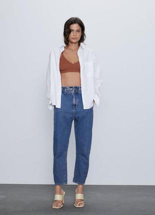 Круті джинси синього кольору zara