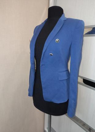 Шикарный вискозный пиджак василькового цвета 💙