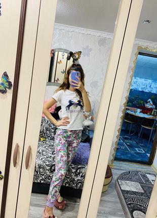 Хлопковая пижама с единорогами