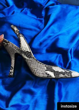 Туфли в стиле balenciaga цвет питон