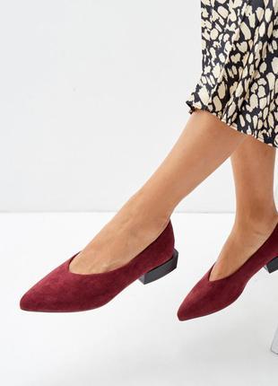 Шикарные женские туфли бордо