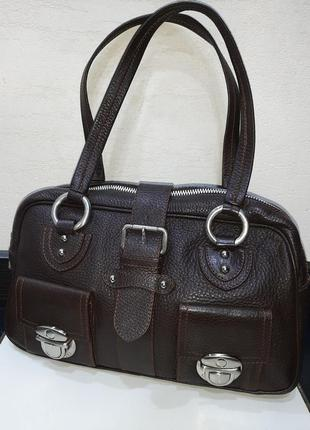 Кожаная добротная сумка marc jacobs