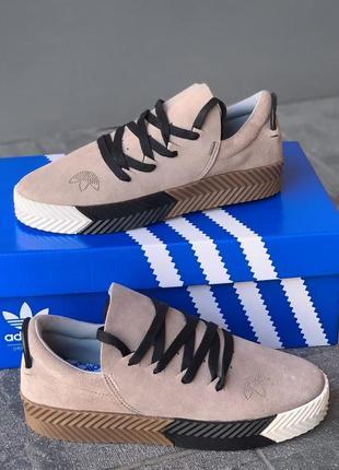 Кроссовки женские adidas alexander wang x adidas originals skate адидас