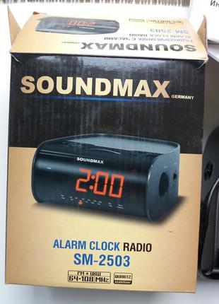 Радиобудильник soundmax sm-2503