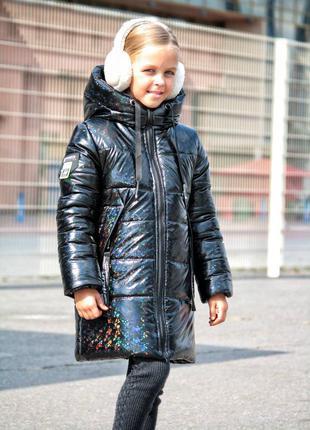 Пальто зимнее детское , очень теплое