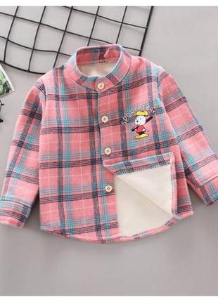 Рубашка на девочку утепленная