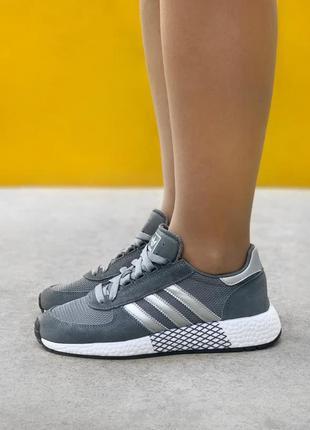 Кроссовки женские adidas marathon tech grey адидас