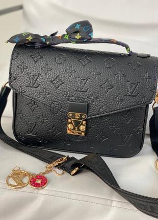 Черная сумочка louis vuitton pochette metis black
