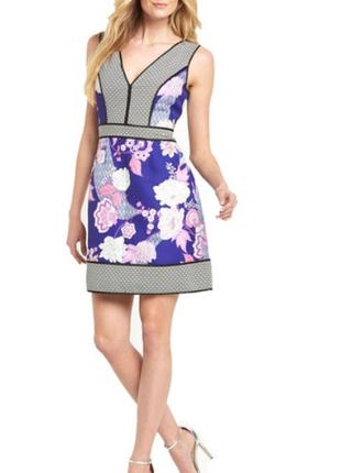 Вечернее красивое платье в японском стиле из англии размер s-m 42-44