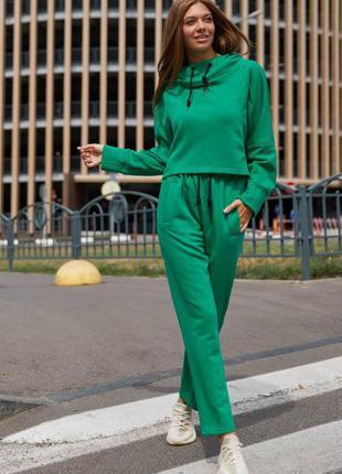 Стильный спортивный/повседневный костюм худи  +брюки прямые в разных
