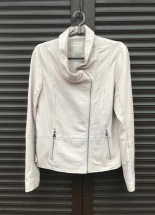 Женская кожаная куртка esprit размер 12/м