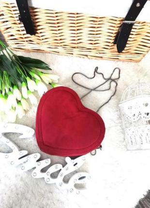 ❤️распродажа ❤️невероятная оригинальная красная сумочка сердце
