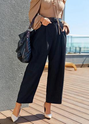Черные вельветовые брюки широкого кроя.12908_черный