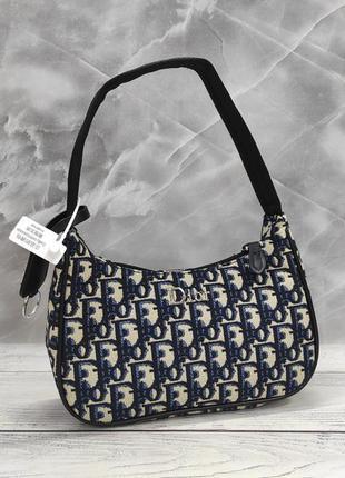 Женская маленькая  текстильная сумка в стиле dior 6679