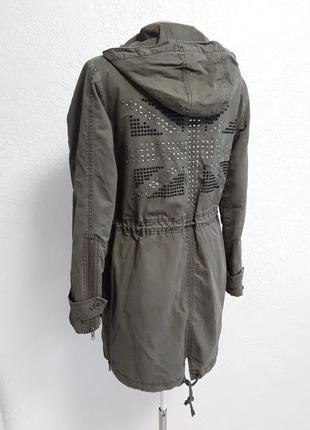 Курточка - парка на подкладке , утепленная