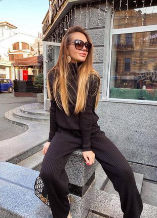 Тёплый чёрный костюм