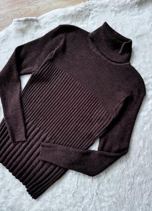 Шерстяной свитер гольф legend коричневый женская кофта
