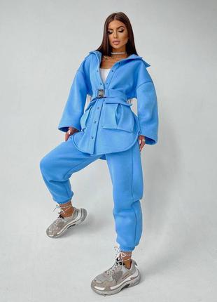 Голубой костюм на флисе