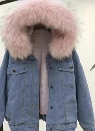Куртка джинсовая на меху зимняя