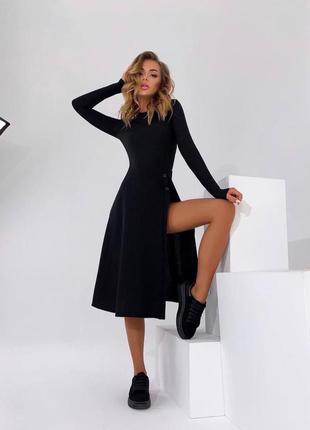 Платье трикотаж с вырезом с м л хл