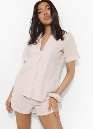Рубашка для сна, дома, пижама boohoo