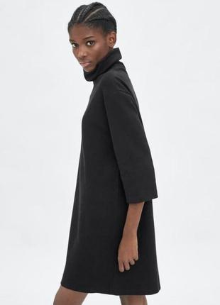 Платье туника zara чёрное размер m