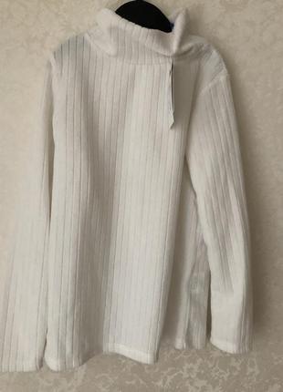 Беленький флисовый свитерок доя девочки оvs италия