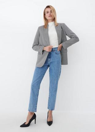Стильный пиджак h&m, трендовая расцветка гусиная лапка