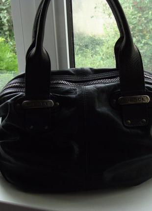 Модная сумка diesel натуральная кожа
