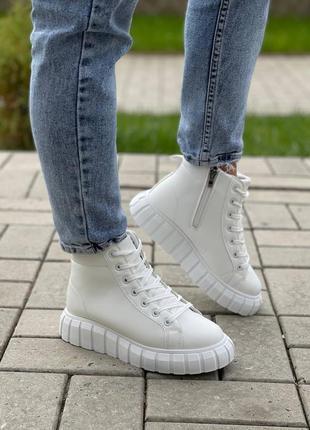 Белые бртинки хайтопы