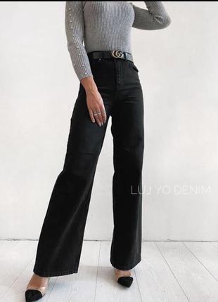 Стильные джинсы палаццо, клеш от бедра 32-40р. турция как zara