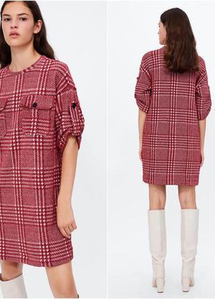 Нереальное тепленькое платье zara ❤