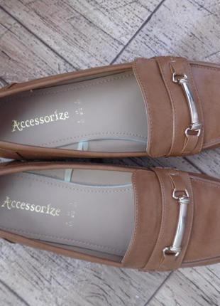 Туфли лоферы эко-кожа accessorize р-р 9 – идет на 41-41,5.