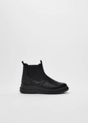 Стильные демисезонные ботинки ботинки-челси для девочки от zara (испания