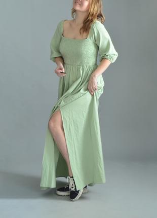 5002\150 оливковое платье из хлопка nastygal m