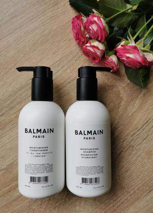 Увлажняющий шампунь и кондиционер для волос balmain paris