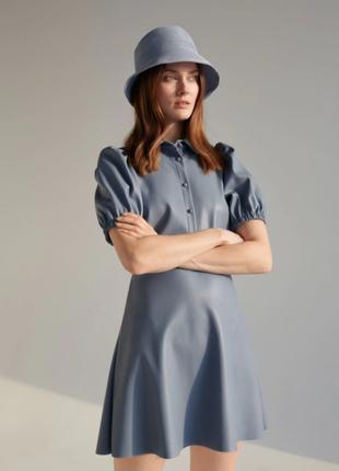 Платье с воротником из эко кожи reserved размер: m
