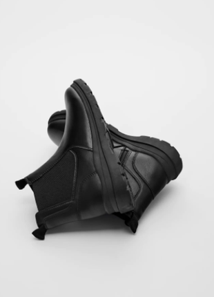 Стильные демисезонные ботинки ботинки-челси для девочки zara  31 32 33 34 36 37