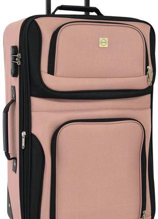 Чемодан тканевый средний на 2 колёсах bonro best m (пудровый / pink)
