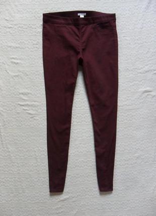 Стильные джинсы джеггинсы скинни марсала h&m, 14-16 размер