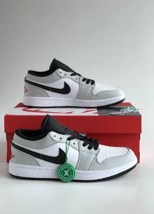 Nike air jordan 1 low низкие серые кроссовки