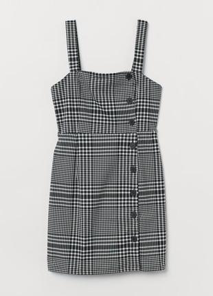 Сарафан платье в клетку на пуговицах от h&m