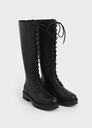 Крутые ботинки берцы сапоги высокие на шнуровке