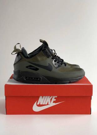 Nike air max mid winter 90 termo green термо кроссовки цвета хаки