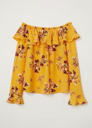 Кокетливая цветочная блуза h&m